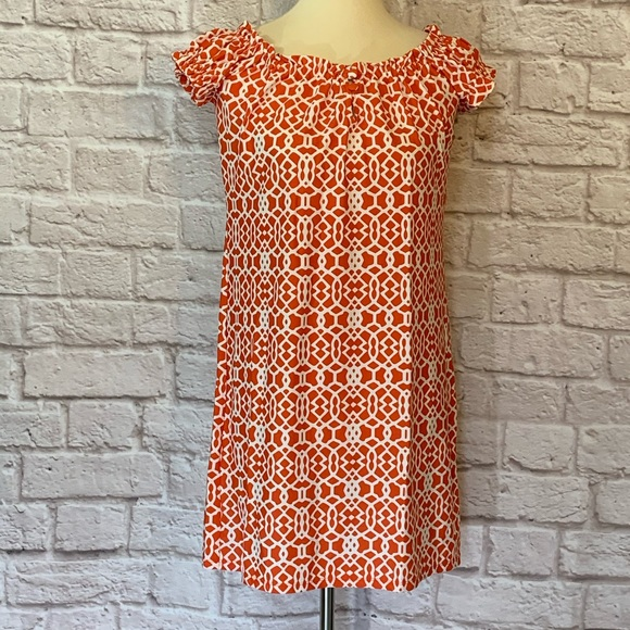 Jude Connally Dresses & Skirts - Jude Connally coral/white knit dress size …